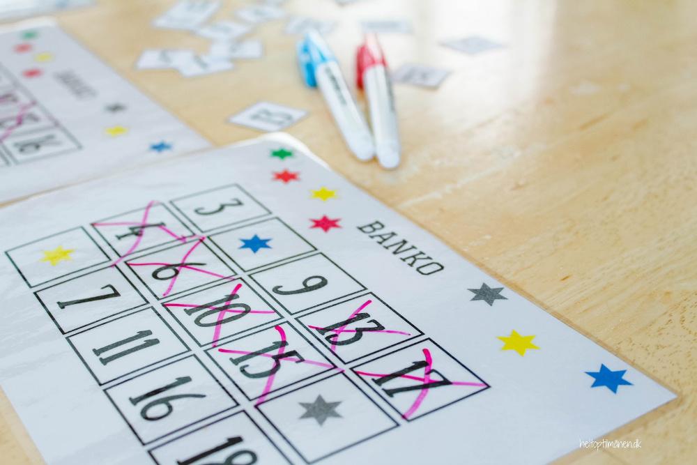 Banko spil for børnehavebørn
