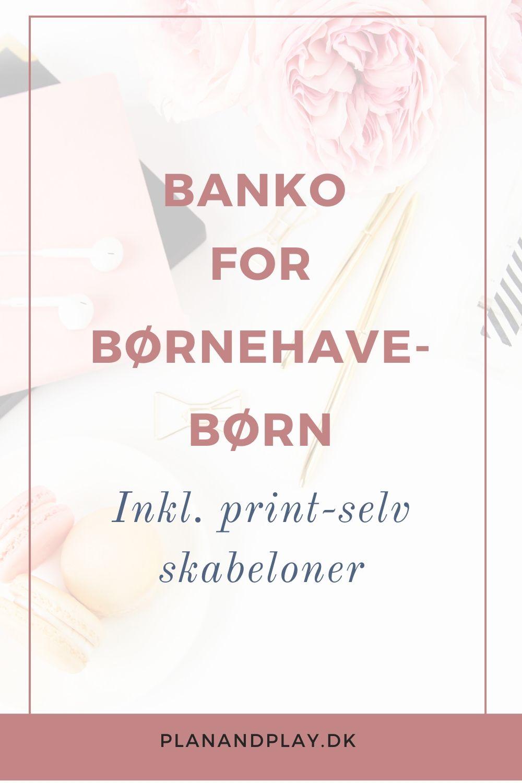 Print selv banko for børnehavebørn