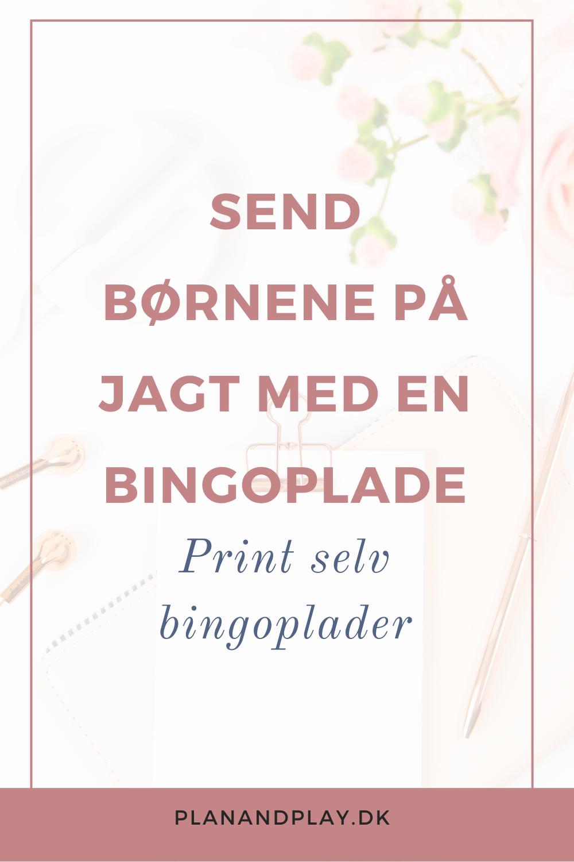 Send børnene på jagt med bingoplader